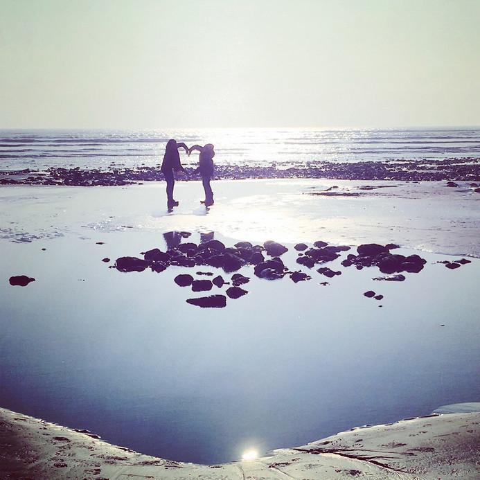 Low tide rock pool!