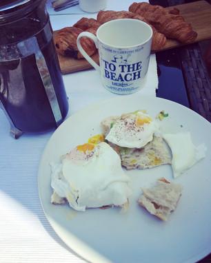 Perfect breakfast post lowtide walk