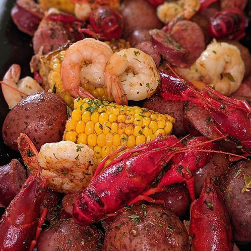 Crawfish and Shrimp Boil w/ Smoked Butter