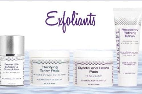 Exfoliates