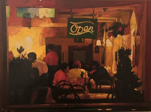 Evening In The City - The Red Cafe, London