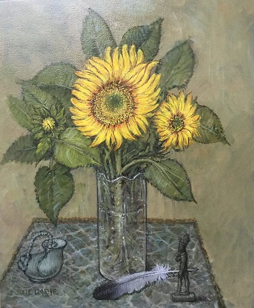 Sunflowers with Ancient Objects