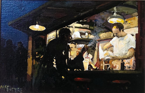 Figures In The Evening - Coffee Stall, Chicago