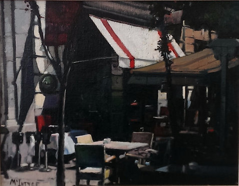 Study For Early Morning Light - Cafe, Madrid