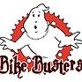 """Logo di Bike Busters, con un fantasma bianco e la scritta """"Bike Busters"""" in basso"""