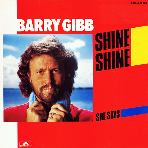 "Barry Gibb ‎– Shine Shine,12"", 45 RPM"