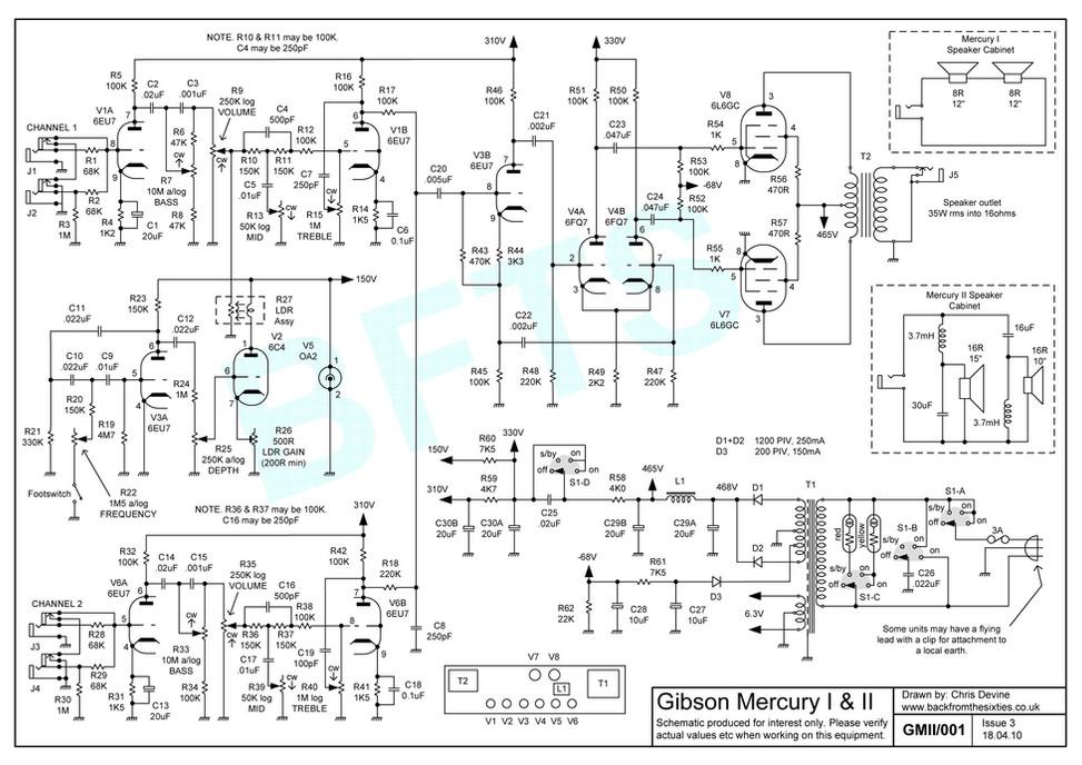 Gibson Mercury Schematic