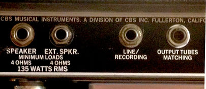 Bassman 135 speaker outputs