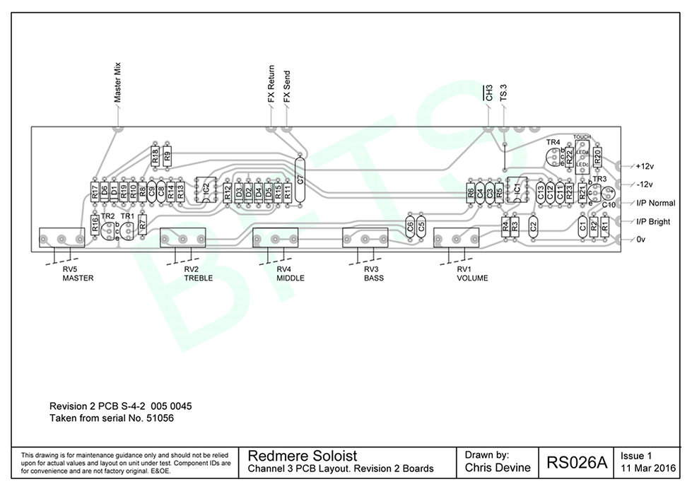 Redmere Soloist Channel 3 PCB Layout. S-4-2 Boards
