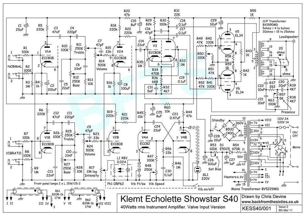 Echolette Showstar Schematic