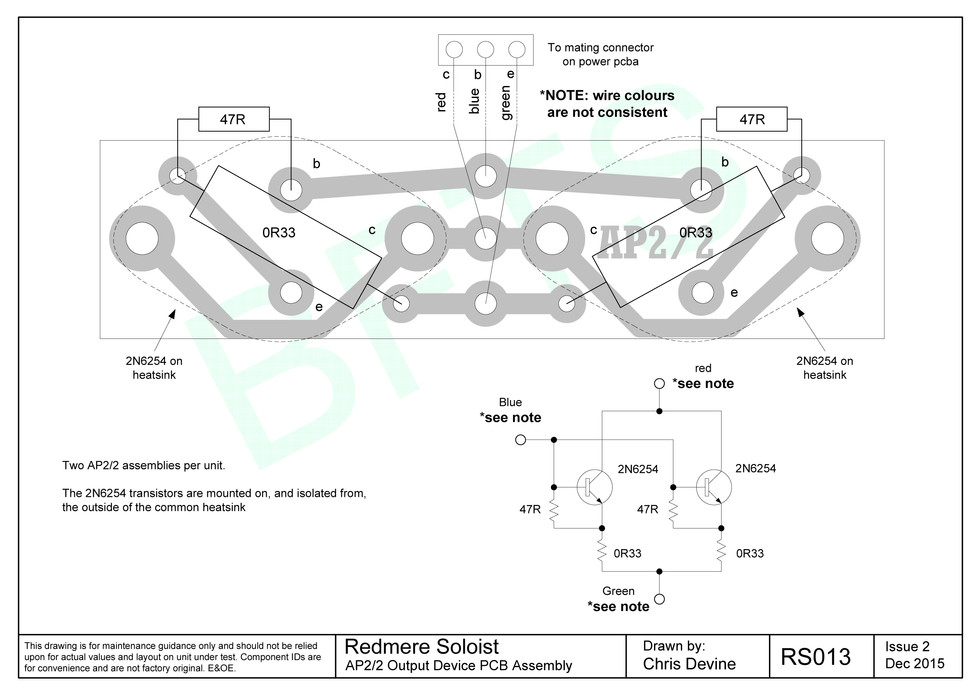 Redmere Soloist AP2/2 Board Layout