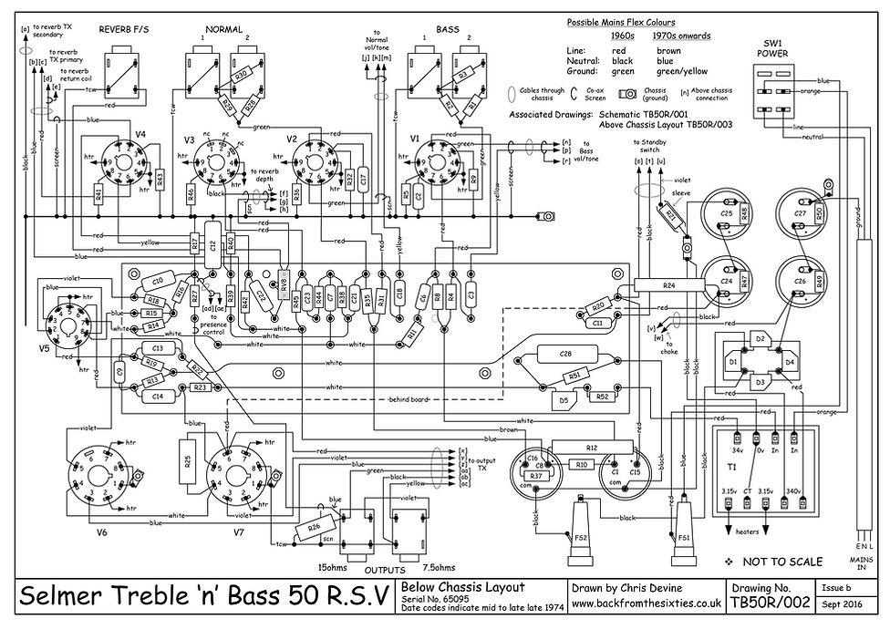 Selmer Treble n Bass 50 RSV layout