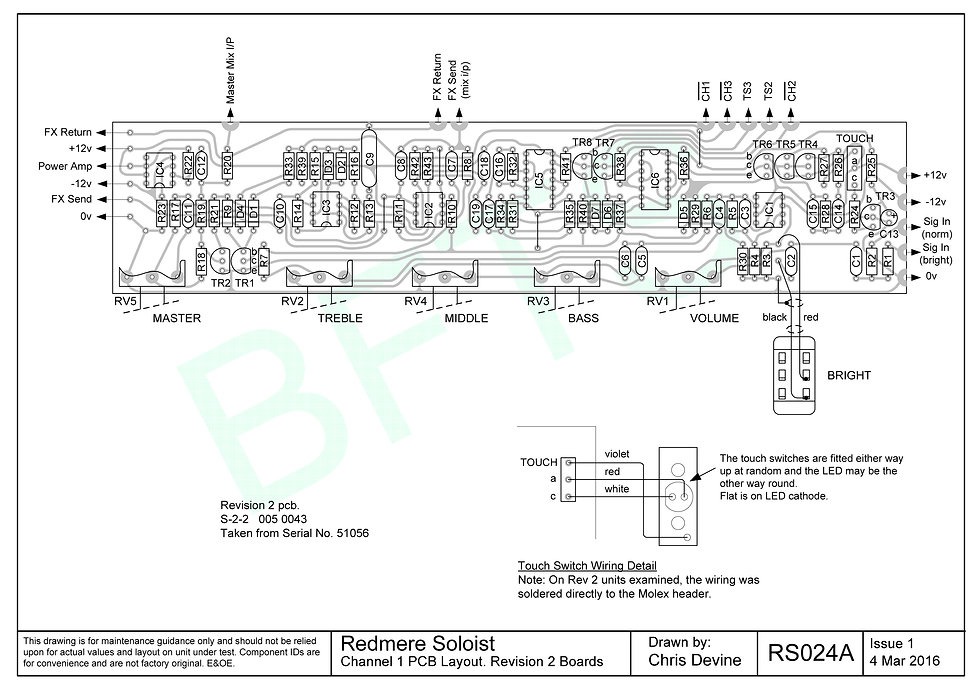 Channel 1 PCB Layout. S-2-2 Boards