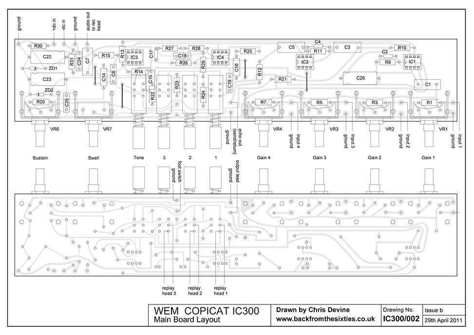 Watkins WEM Copicat IC300 Main Board Layout