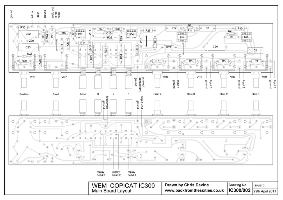 Watkins WEM Copicat IC300 Main Board Layout
