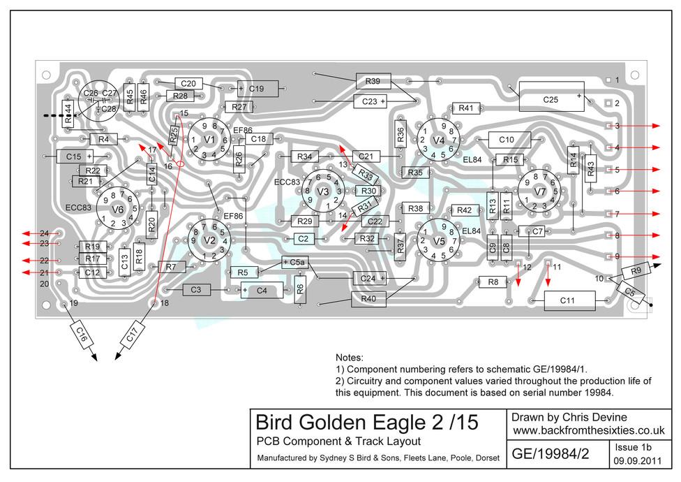 Bird Golden Eagle 2/15 Circuit Board Layout