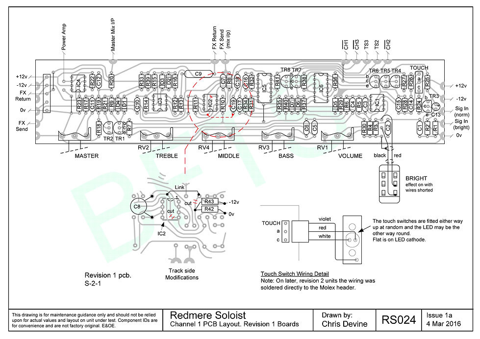 Channel 1 PCB Layout. S-2-1 Boards