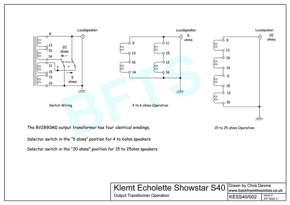 Echolette Showstar Output Transformer