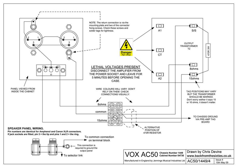 Vox AC50 Speaker Wiring