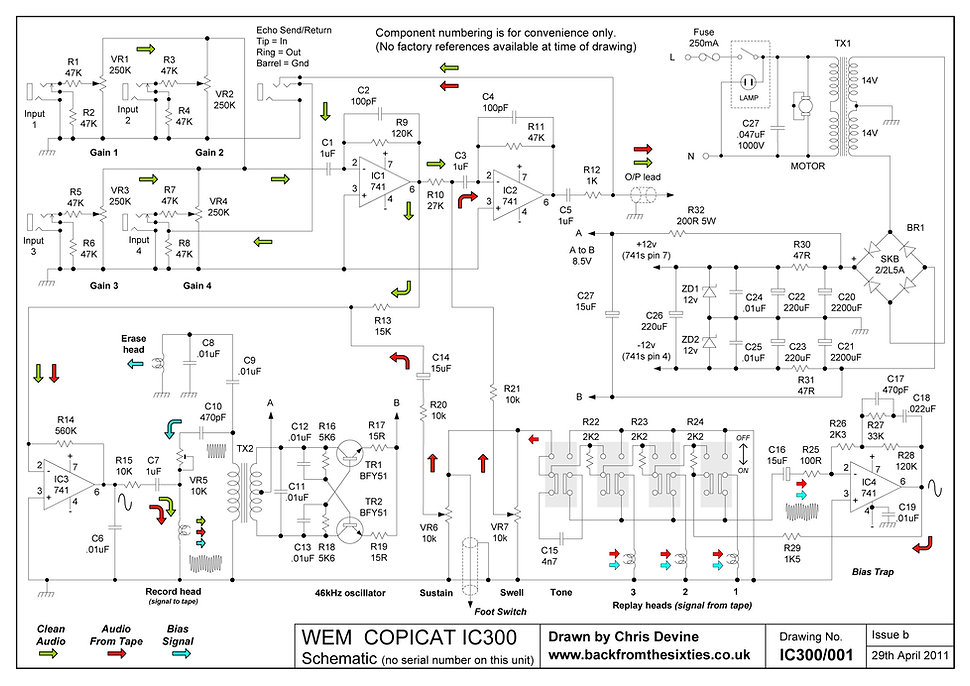 Watkins WEM Copicat IC300 Schematic