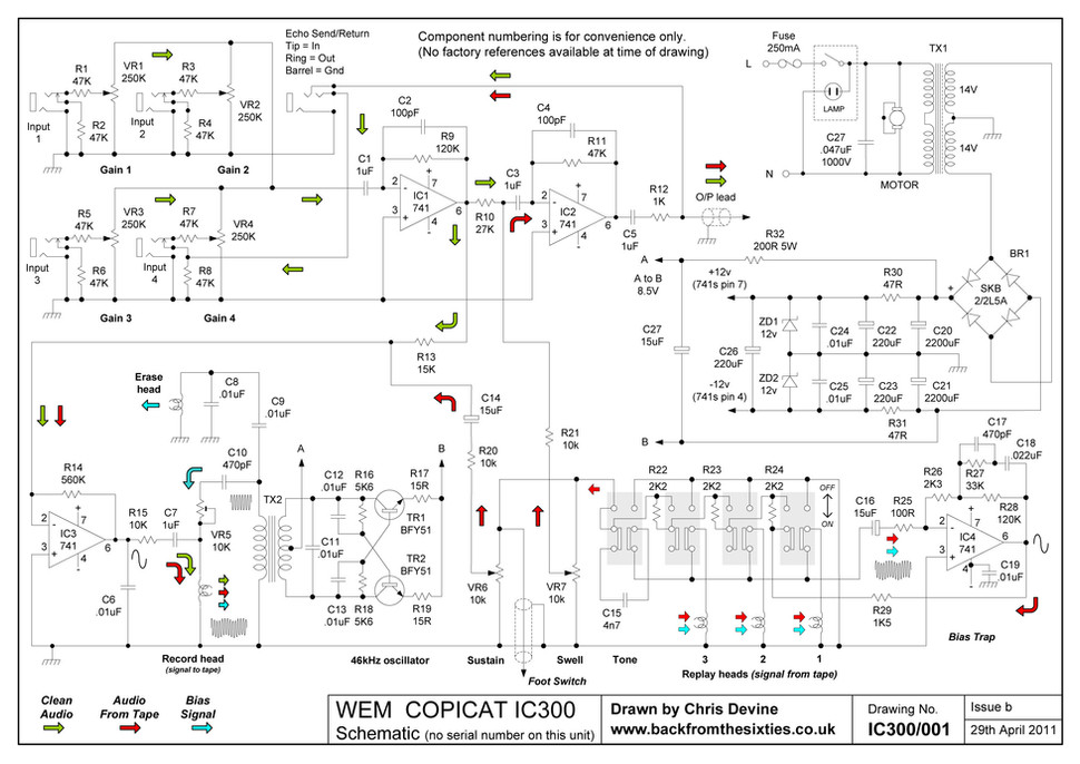 Watkins WEM Copicat IC300 Schematic