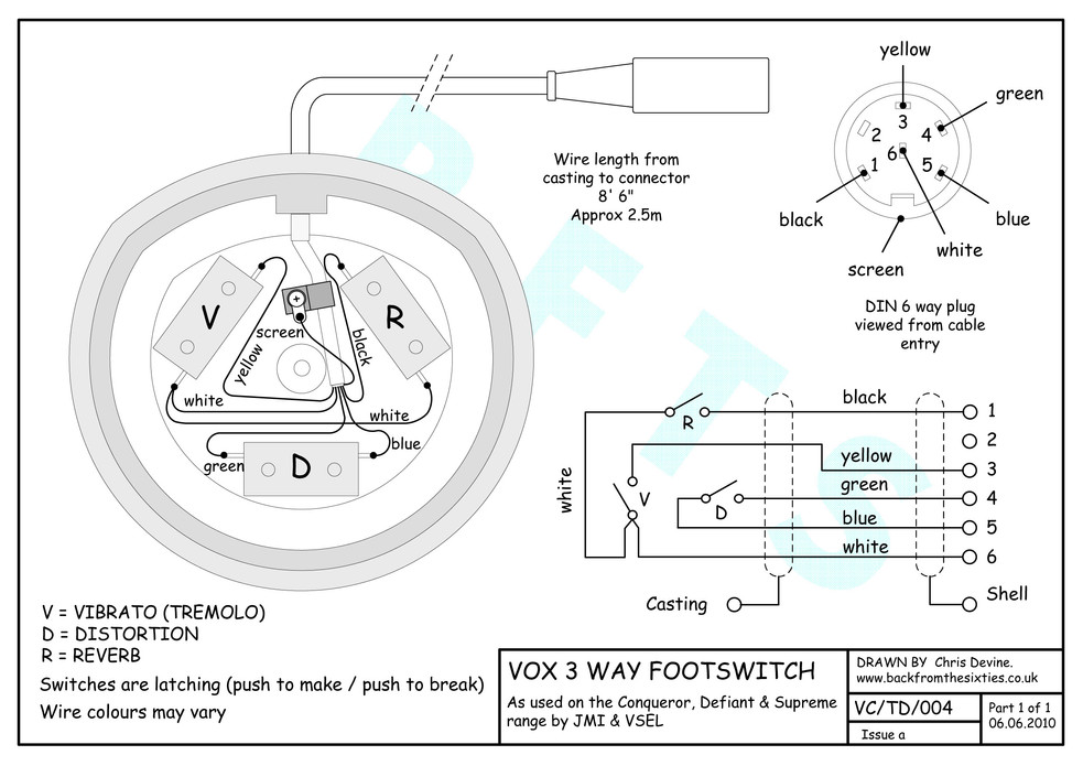 Vox Supreme Foot Switch Wiring