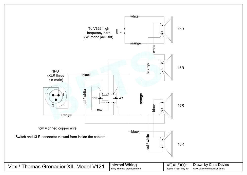 Vox Grenadier XII Internal Wiring