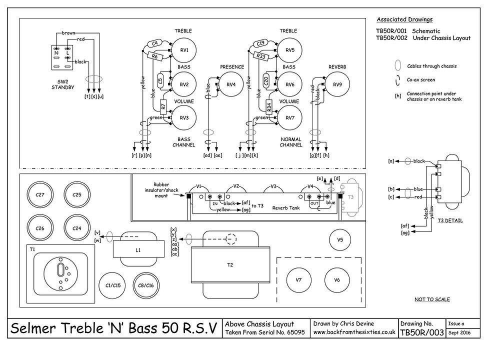 Selmer Treble n Bass 50 RSV top layout