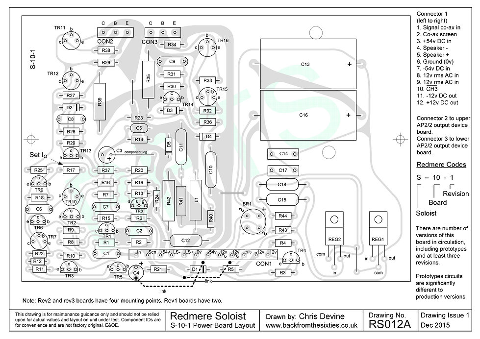 Redmere Soloist S-10-1 Power Board Layout