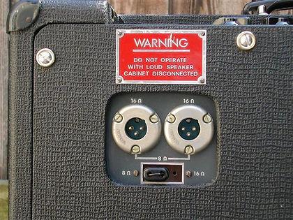 Vox AC50 Speaker Connectors 1