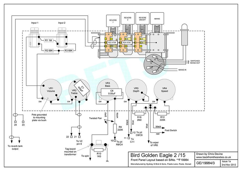 Bird Golden Eagle 2/15 Control Panel Layout