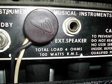 Fender Twin Reverb Rear Panel