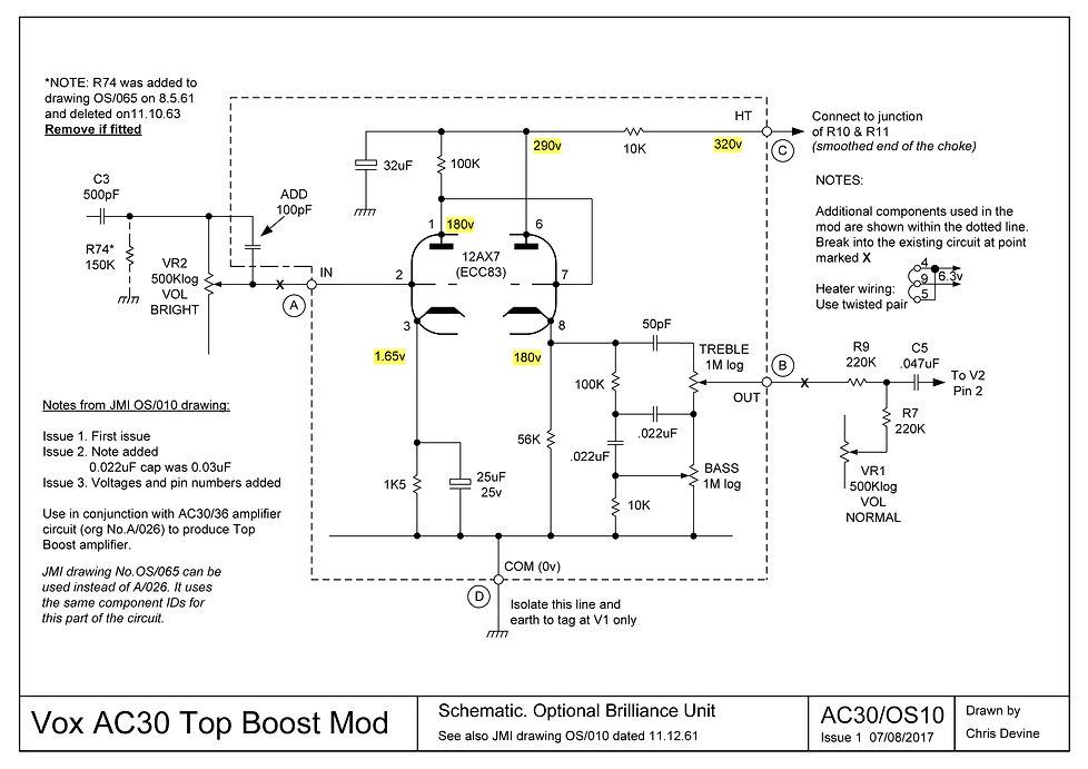 Vox AC30 Top Boost Mod OS/010