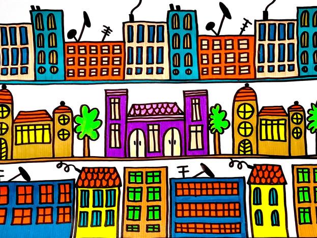 Random city pattern