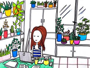 Kitchen office summer version