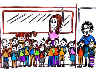 Children attack on the metro