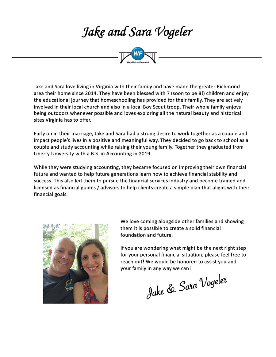 Meet Your Financial Guide Jake and Sara.