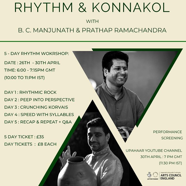 Rhythm & Konnakol by B.C. Manjunath & Prathap Ramachandra