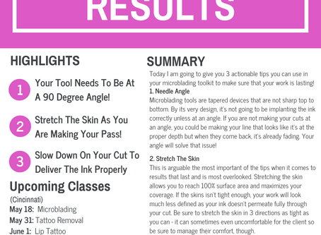 3 Ways To Get Better Microblading Results