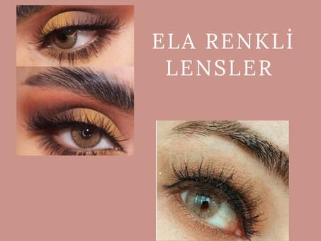 Ela renkli lens, Bal köpüğü lens, Bal rengi lens