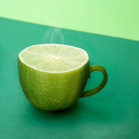 Lime Tea Cup by JR Productions Julia Rettenmaier