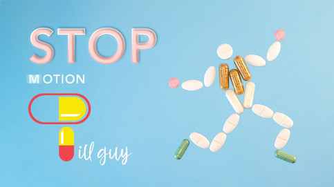 Stop Motion Animation of a Pill Man by JR Productions