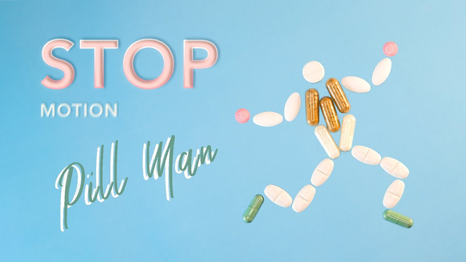 Stop Motion Animation Pill Man by JR Productions