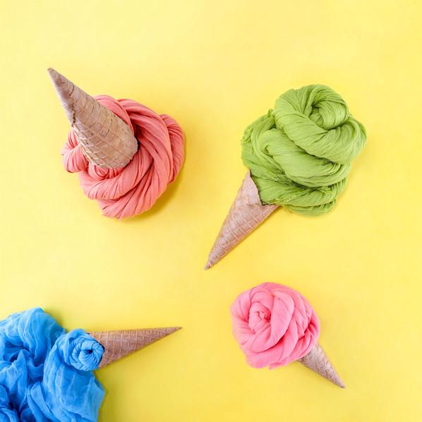 Ice Cream Scarfs by JR Productions Julia Rettenmaier
