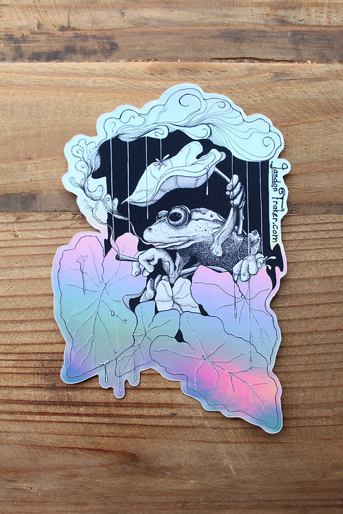 """Cloudy Thoughts"" Holographic Sticker"