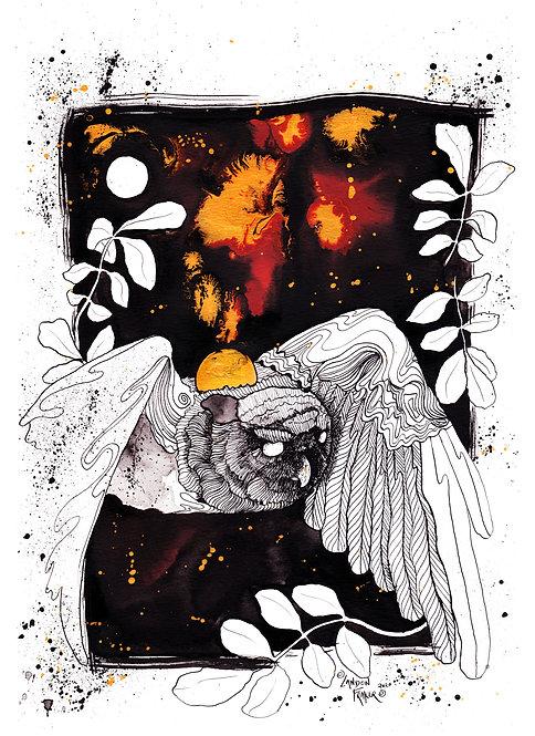 RESERVED - Owl & Hickory ORIGINAL ART