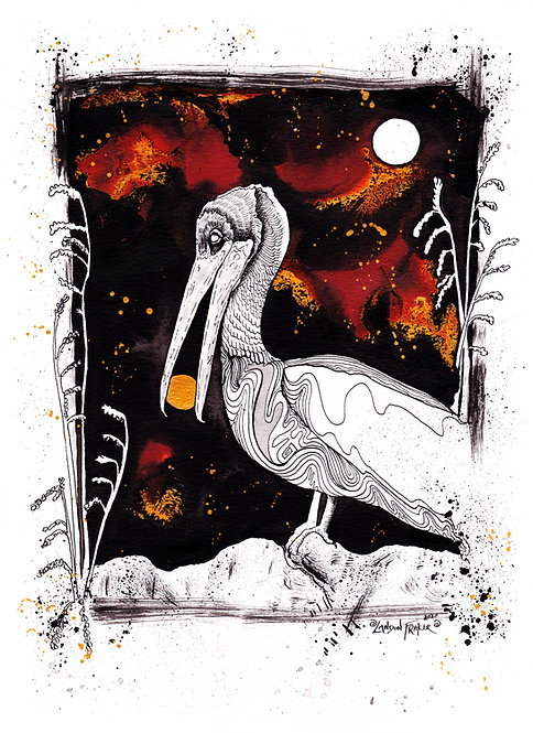 Pelican & Sea Oats