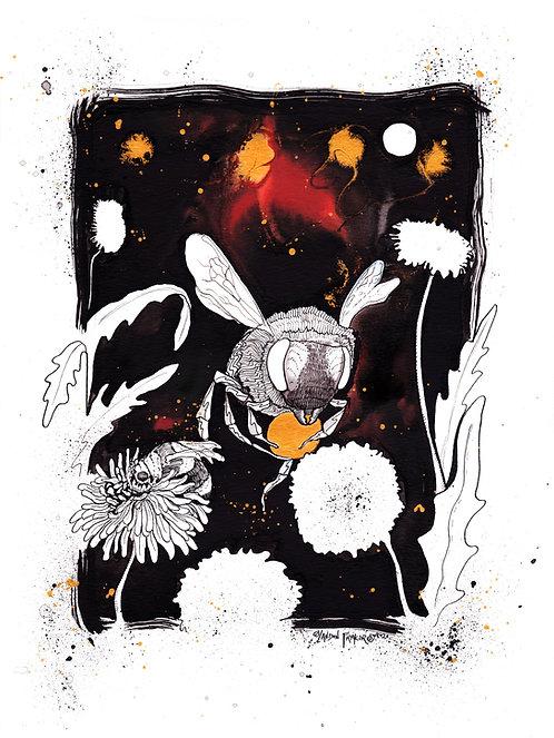 Honey Bee & Dandelion