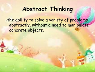 Abstract Thinking and the Success of Your Child