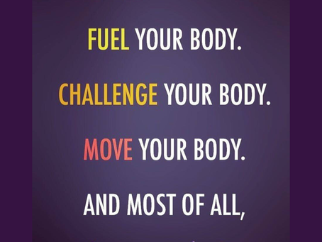 It's not a cliche - Love the body you have!
